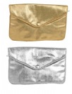 Metallic Lame Pouches